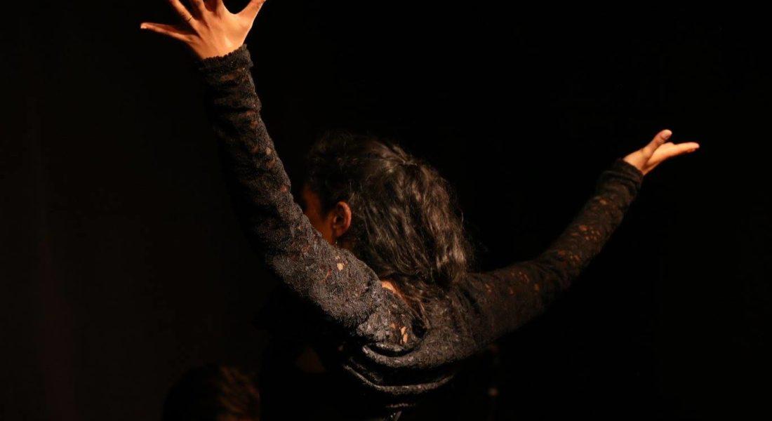 Danseuse de flamenco en spectacle tablao traditionnel à Bordeaux.