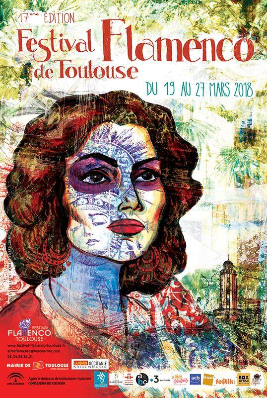 affiche festival flamenco toulouse