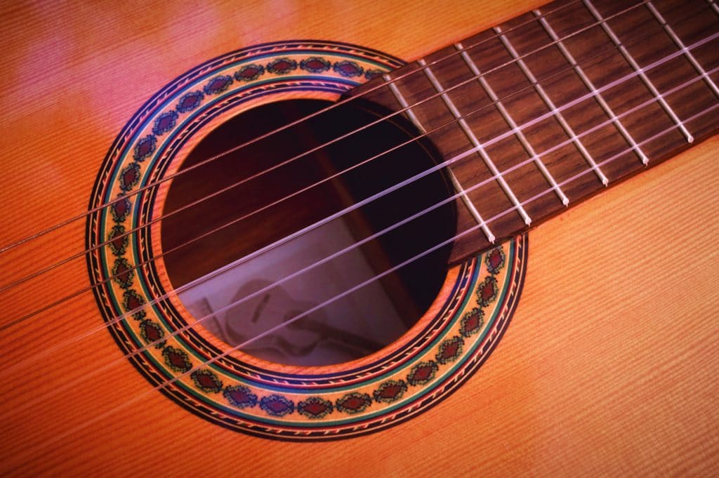 Guitare flamenco contact