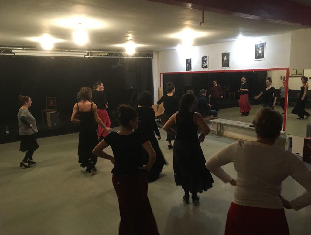 Stage de danse flamenco : élèves à Bordeaux