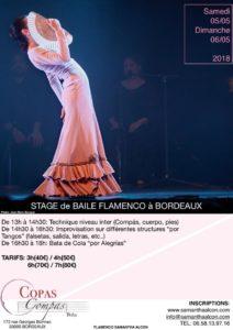 stage danse flamenco Bordeaux Samantha Alcon