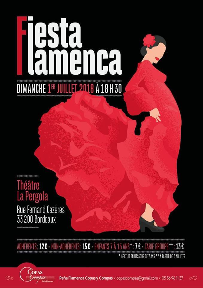 fiesta flamenca gala fin d'année copas y compas bordeaux