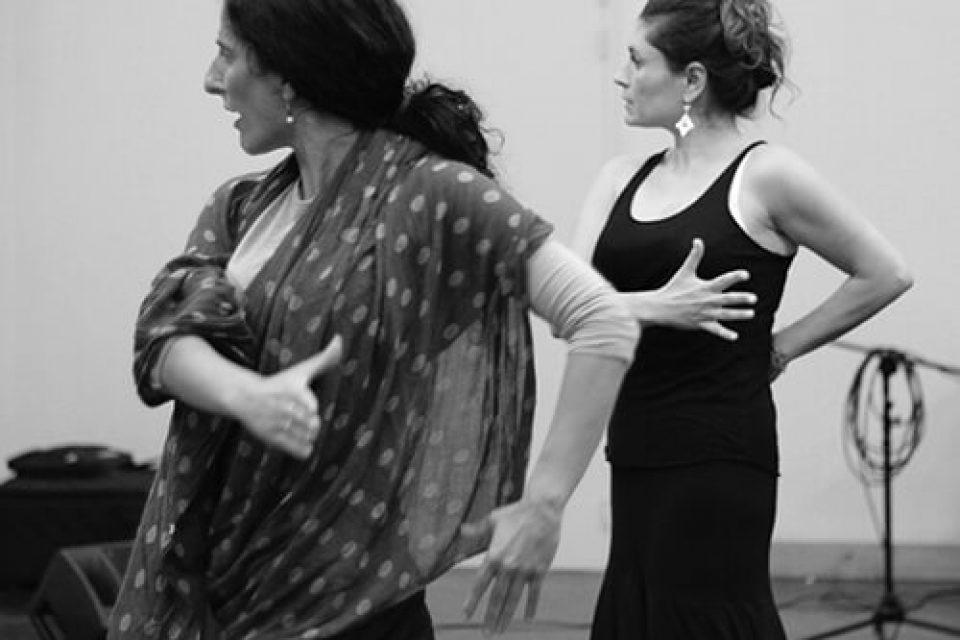 Cours flamenco Bordeaux avec Mercedez Ruiz et une élève